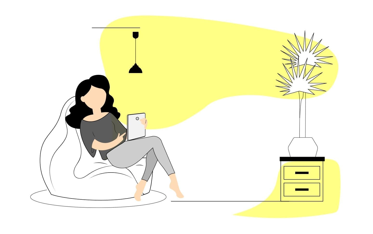 Mujer-sentada-leyendo-libro
