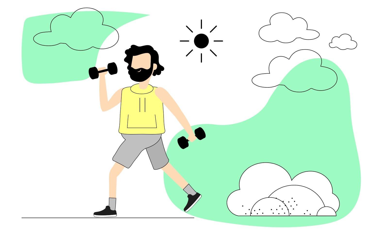Persona-con-mancuernas-entrenando-al-aire-libre