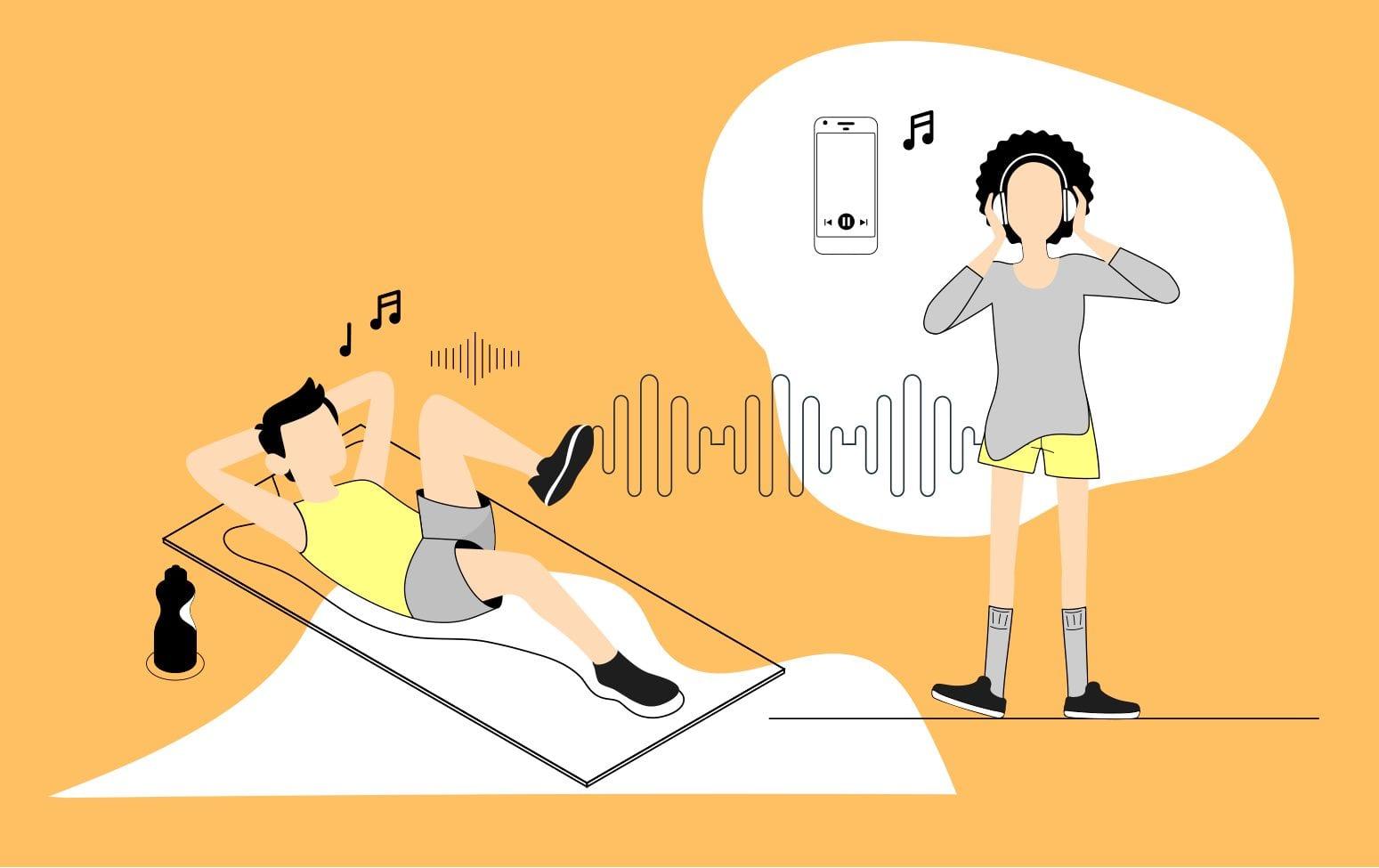 personas-entrenando-con-música-deportiva